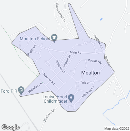 Map of property in Moulton