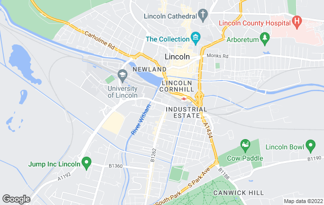 Map for Student Housing, Lincoln