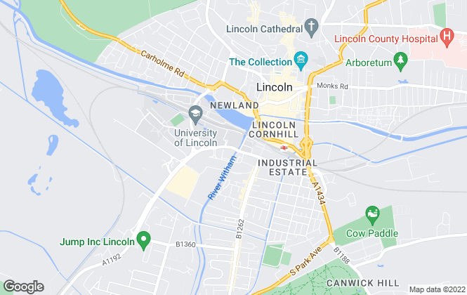 Map for Pod Estate Agents, Lincoln