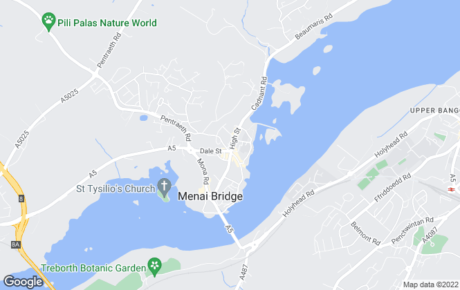 Map for Lucas Estate Agents, Menai Bridge