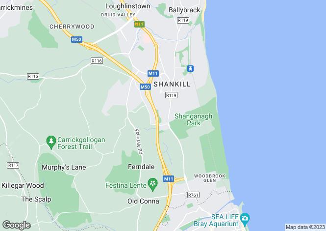 Map for 51 Olcovar, Shankill, Co. Dublin, D18 VW64