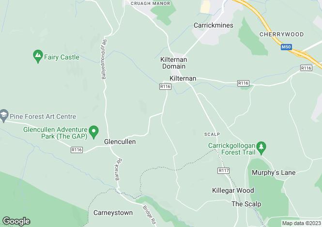 Map for The Den, Ballybetagh Road, Kilternan, Dublin 18, D18 Y891