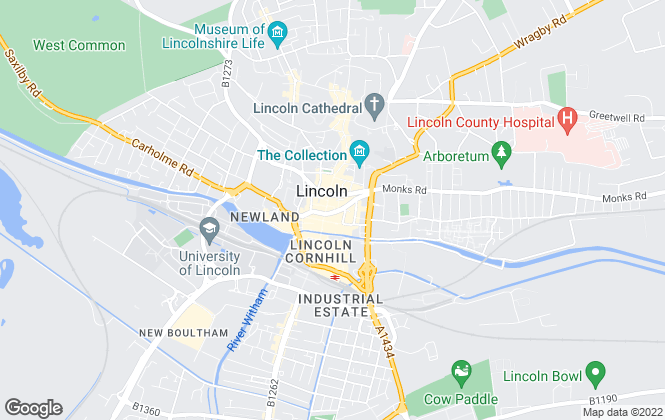 Map for Burton & Co Property Centre, Lincoln
