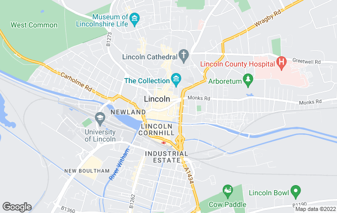 Map for Starkey & Brown, Lincoln