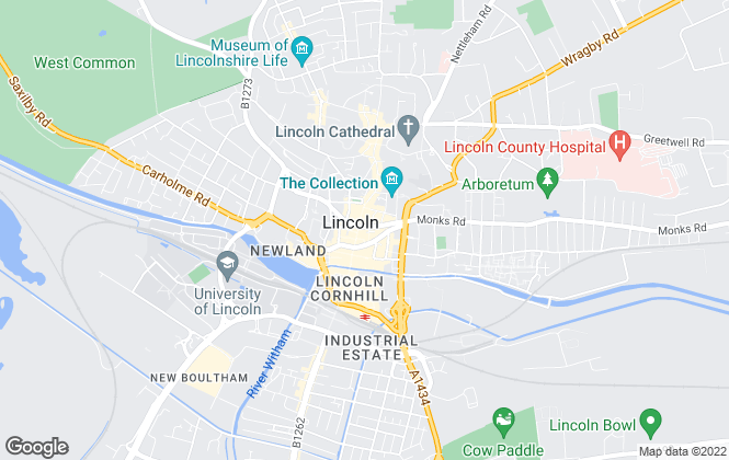 Map for Frankeys, Lincoln