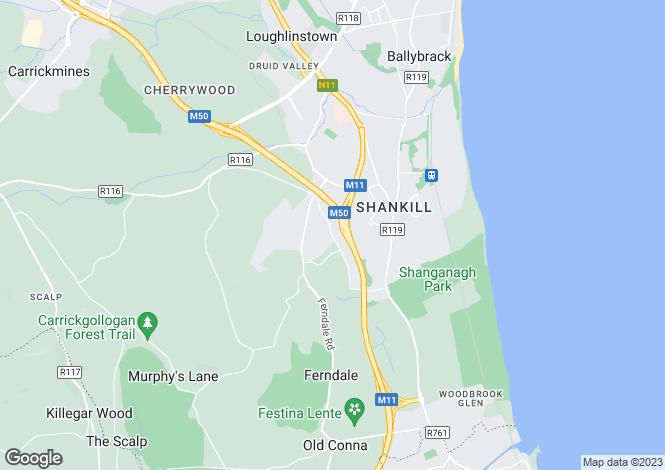 Map for The Orchard, Sylvanmount, Ballybride Road, Rathmichael, Co Dublin