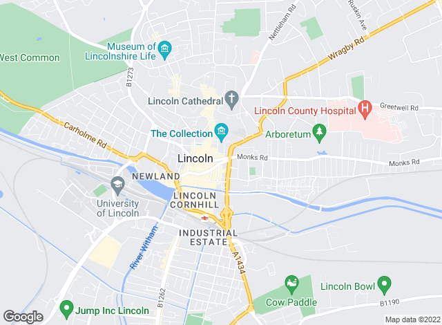 Map for William H. Brown, Lincoln