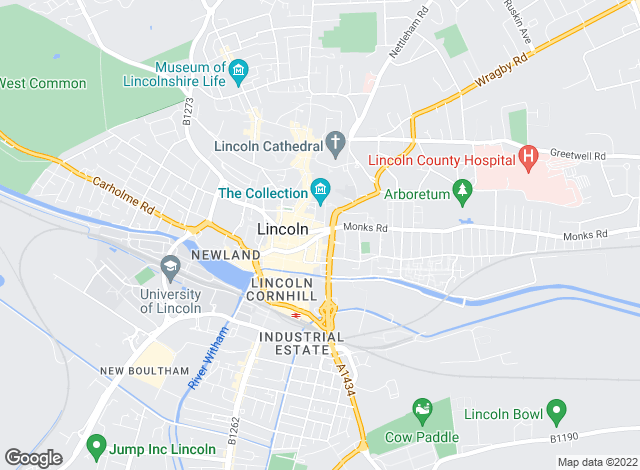 Map for Pygott & Crone, Lincoln