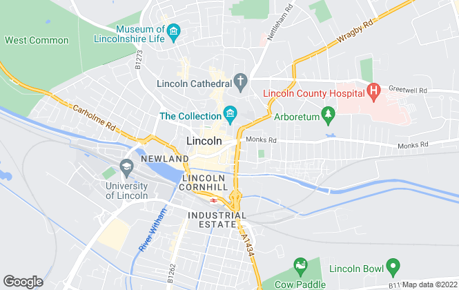 Map for Bairstow Eves, Lincoln