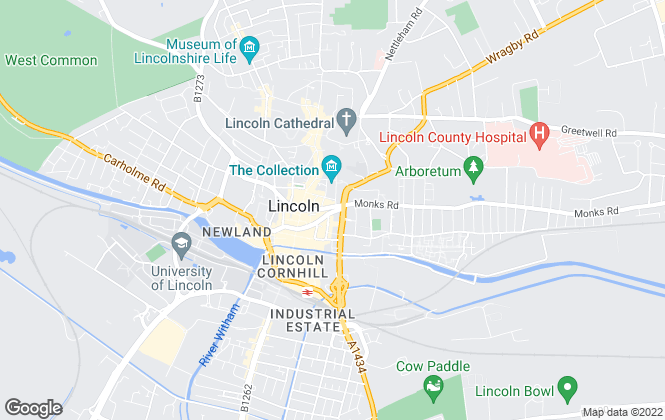 Map for Mundys, Lincoln
