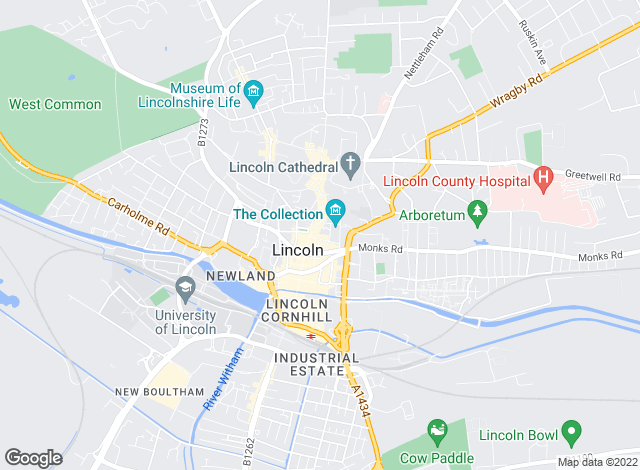 Map for Charterhouse Management (UK) Limited, Lincoln
