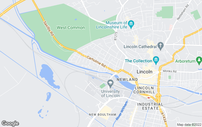 Map for Lincoln Digs, Lincoln