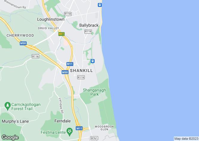 Map for 51 Corbawn Drive, Shankill, Dublin 18