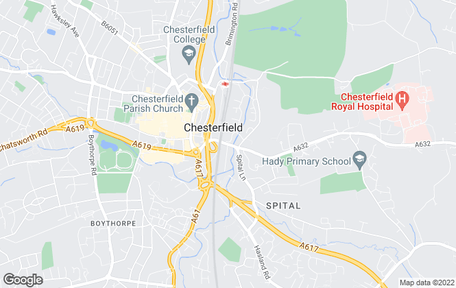 Map for Copelands, Chesterfield - Lettings