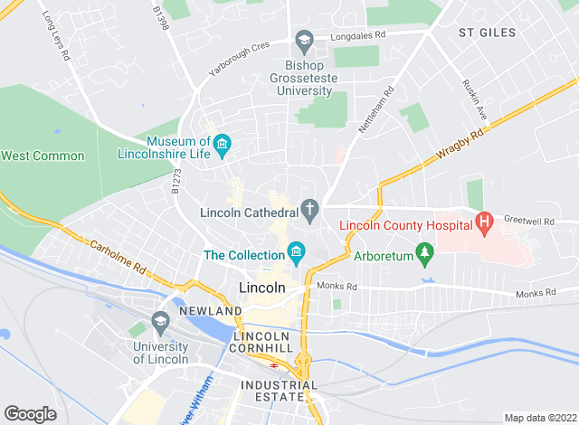 Map for Chesterton Humberts Sales, Lincoln