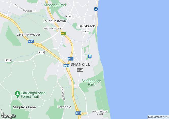 Map for Shankill, Dublin