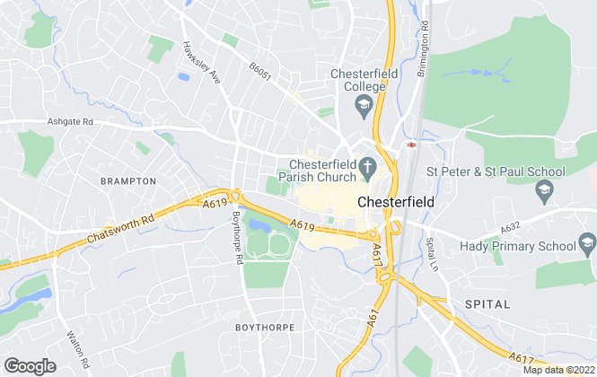 Map for Toseland Properties, Chesterfield