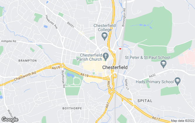Map for Roy Peters, Chesterfield