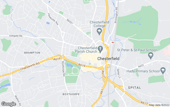 Map for Frank Innes Lettings, Chesterfield