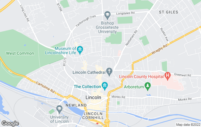 Map for Green Key, Lincoln