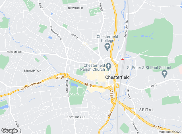 Map for YOUR MOVE, Chesterfield