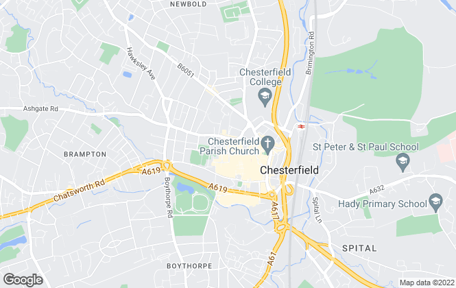 Map for Reeds Rains , Chesterfield