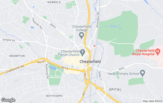 Map for Pinewood Properties, Chesterfield