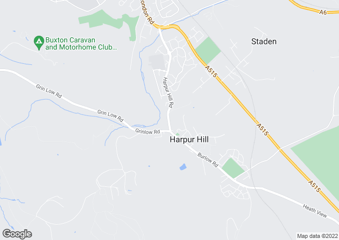 Map for Rockfield, Harpur Hill Road, Buxton, Derbyshire