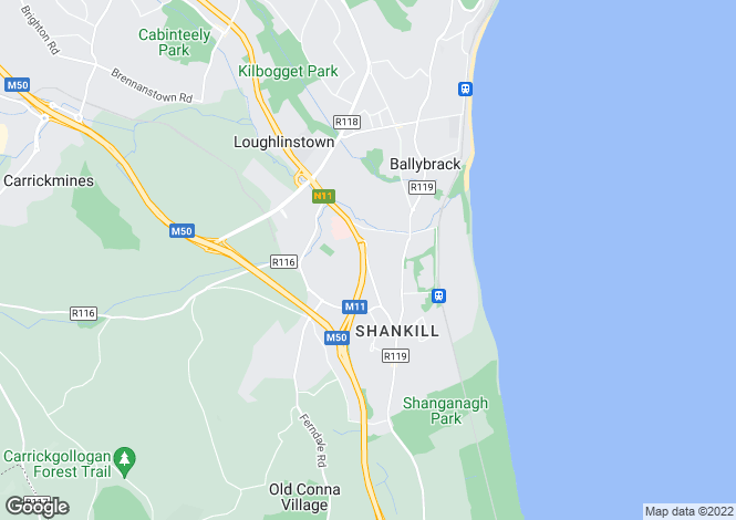 Map for 3 Seaview Gate, Dublin Road, Shankill, Co Dublin
