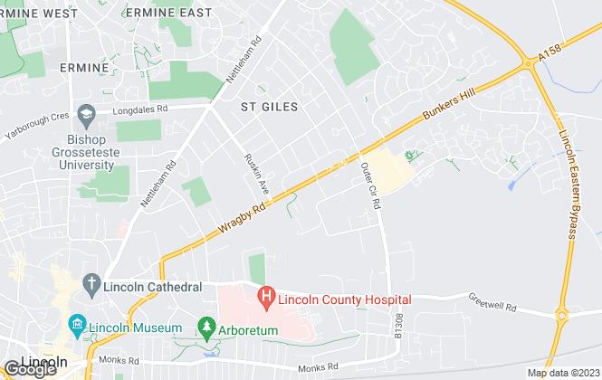 Map for Lovelle Estate Agency, Lincoln