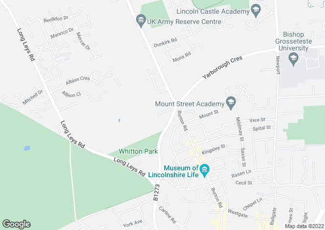 Map for Yarborough Road, Lincoln, Lincolnshire