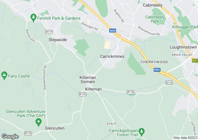 Map for Four Bed Semi-Detached Homes, Brambledown, Glenamuck Road, Carrickmines, Dublin 18