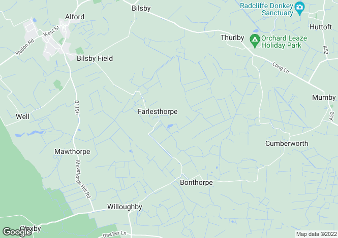 Map for Farlesthorpe, Alford, Lincolnshire