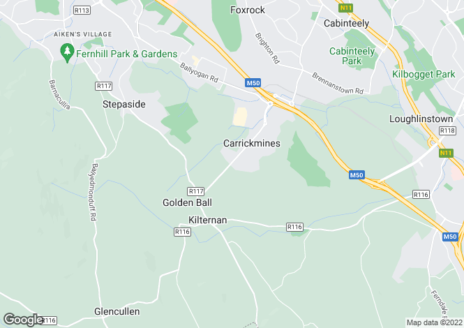 Map for 6 Brambledown, Glenamuck Road, Carrickmines, Dublin 18