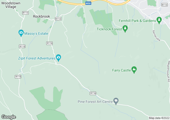 Map for Blueberry Lodge, Tibradden Lane, Rathfarnham, Dublin 16