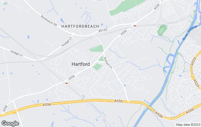 Map for Williams Estates, Northwich