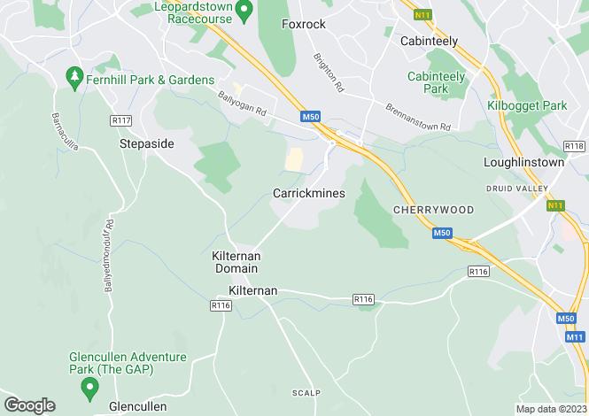 Map for Carrickmines, Dublin