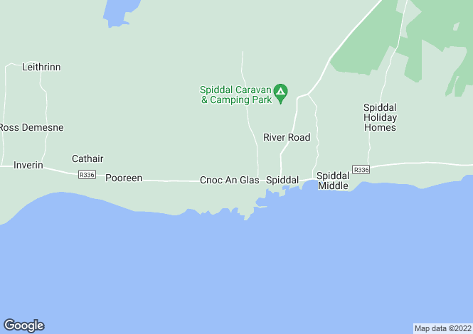 Map for Spiddal, Galway
