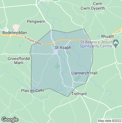 Map of property in St. Asaph