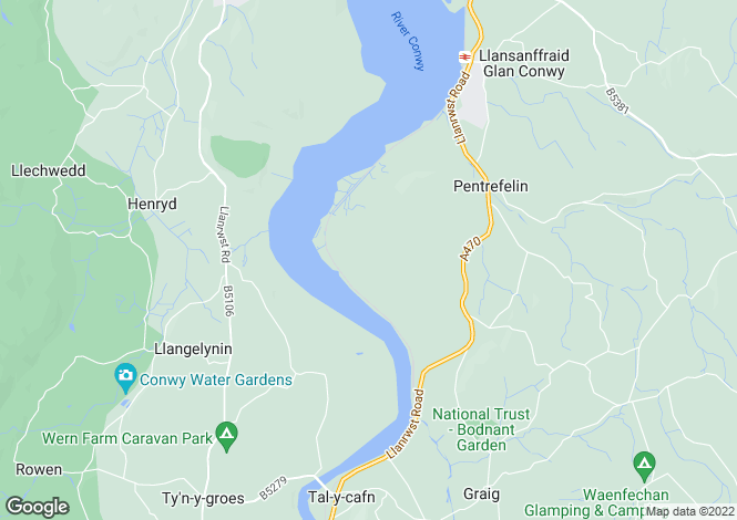 Map for Glan Conwy, LL28