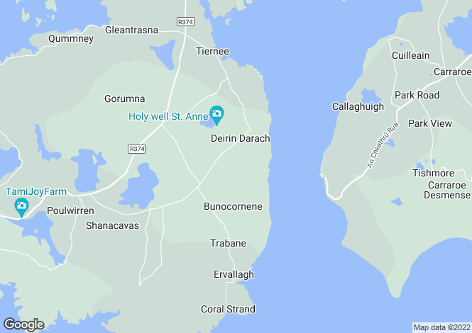 Map for DEIRIN DARACH, LETTERMORE, CO. GALWAY, H91 K588