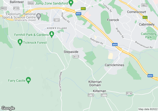 Map for Stepaside, Dublin