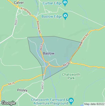 Map of property in Baslow