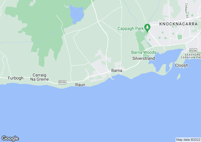 Map for 127 An Creagan, Barna, Co Galway