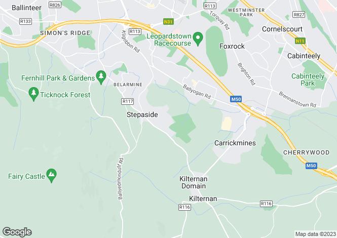 Map for Stepaside, Dublin
