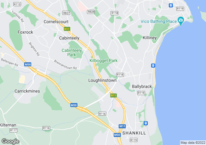 Map for 5 Shanganagh Vale, Cabinteely, Dublin 18