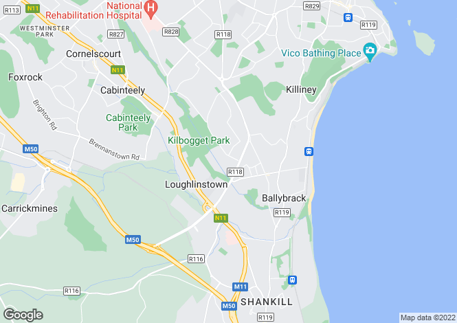 Map for 189 Ashlawn Park, Ballybrack, County Dublin