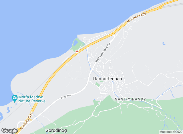 Map for Accent Properties , Llanfairfechan