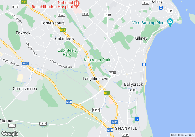 Map for Site @, 50a Shanganagh Vale, Cabinteely, Dublin 18