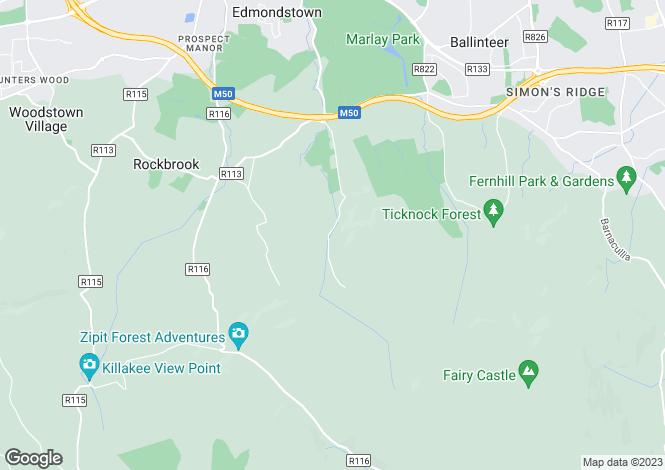 Map for Rathfarnham, Dublin